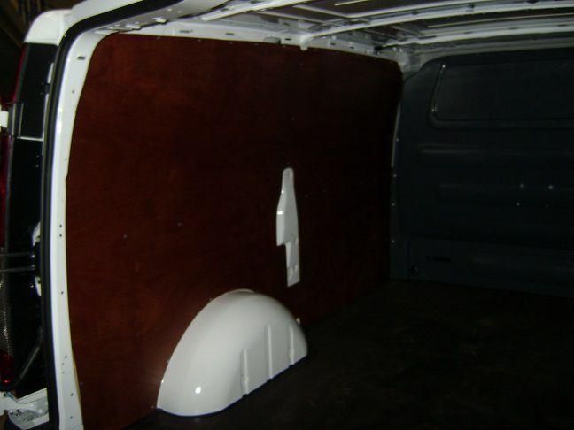 Zijwandbekleding hechthout links en rechts excl. deurpanelen